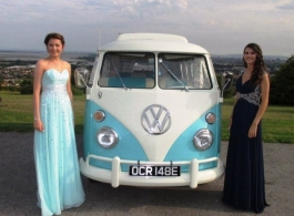 Blue and White Campervan for weddings in Portsmouth